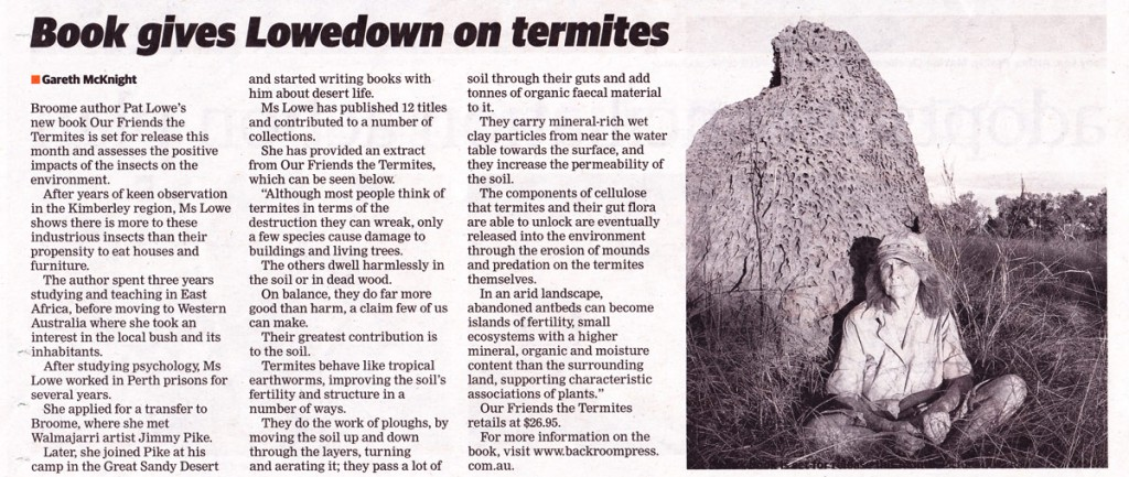 Newspaper review of  'Our Friends the Termites'
