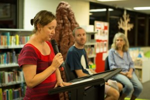 Gillian at Backroom Press Events :  In March 2015  we launched a new title 'Our Friends the Termites'