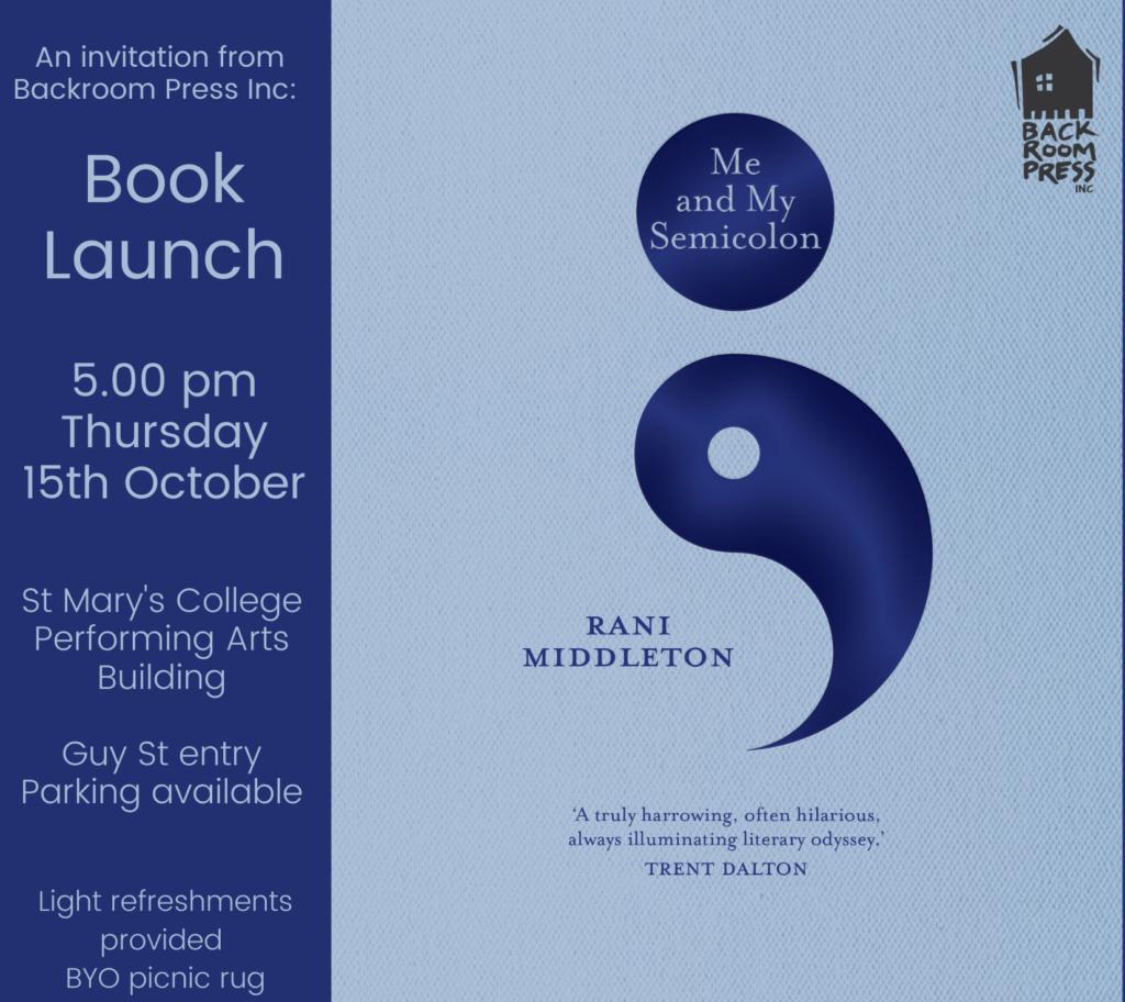 Semicolon launch invite