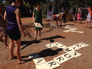 All ages enjoy speed scrabble