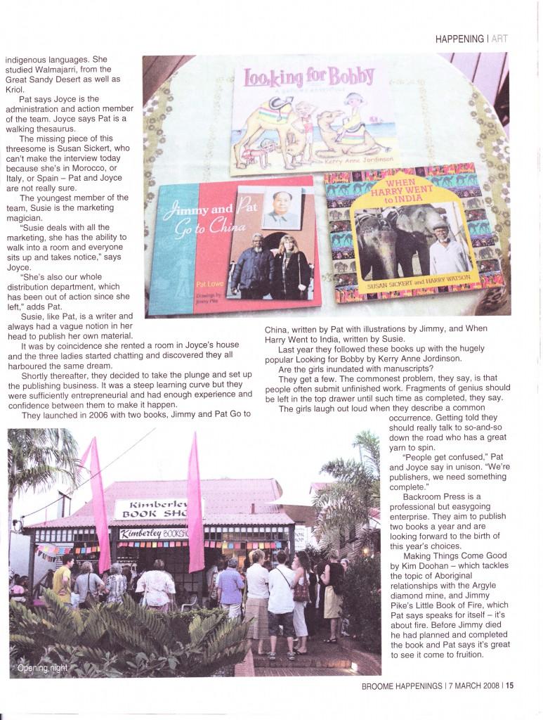 Broome Advertiser | Happenings | 7 Mar 2008